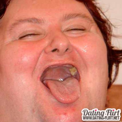 Hässliche dicke Frau